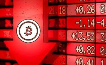 Mercado de bolsas y Bitcoin se desploman con Bitcoin cayendo a menos de USD 8,000